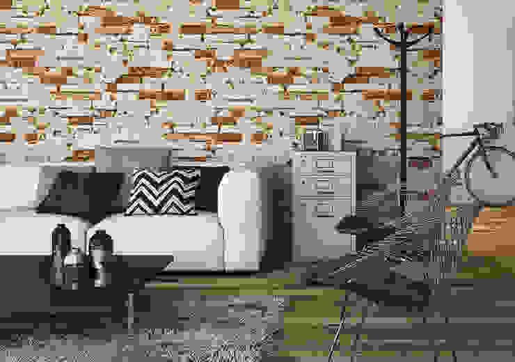 Paredes y pisos de estilo rústico de INTERAZULEJO Rústico