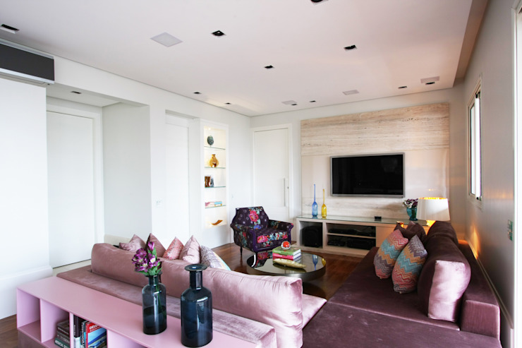 Apartamento Itaim Salas de estar modernas por Officina44 Moderno