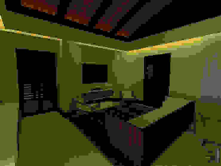 Sala de estar de Habitación Principal de Tres en uno design