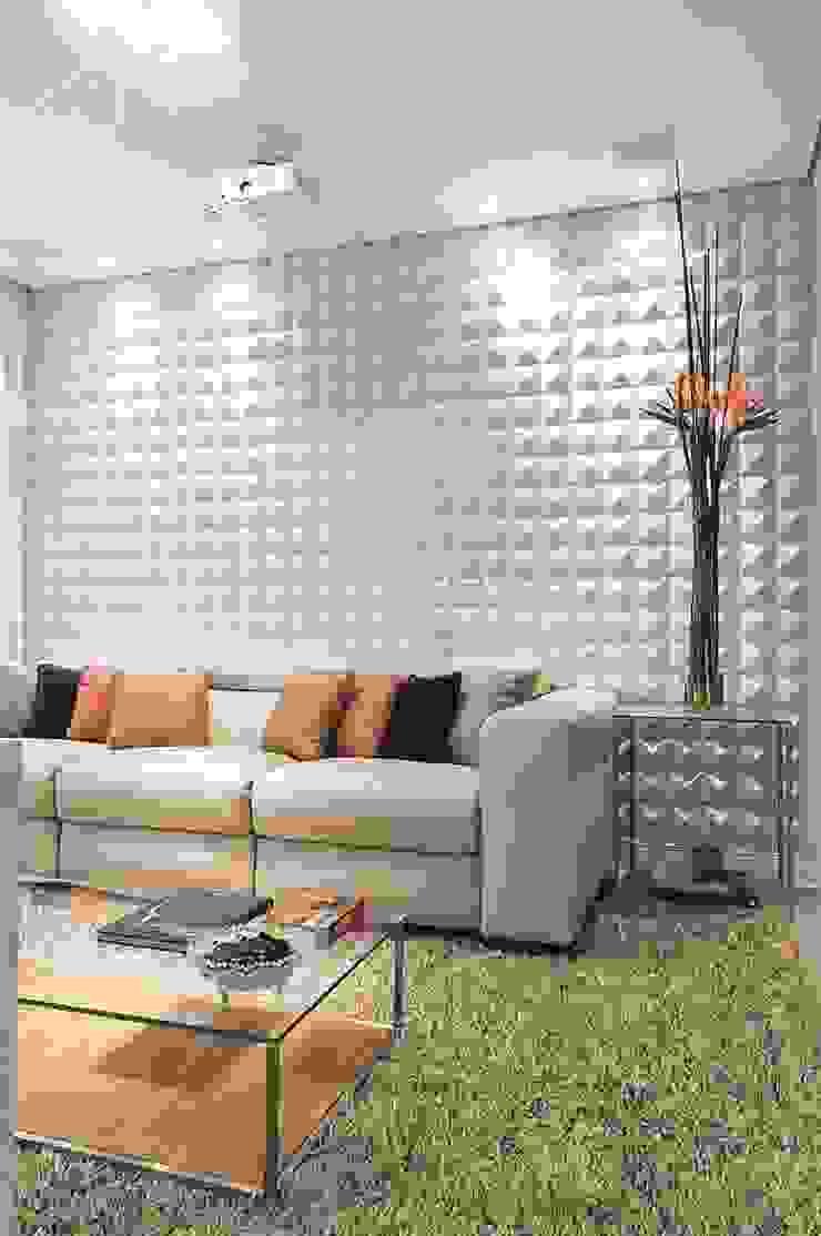 Hall de entrada, Home, Living e Gourmet Salas de estar modernas por Andréa Carvalho Arquitetos Associados Moderno