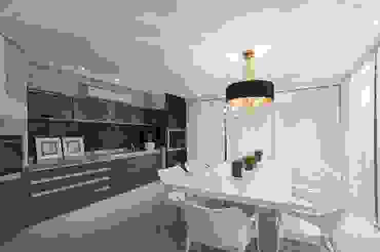 Hall de entrada, Home, Living e Gourmet Salas de jantar modernas por Andréa Carvalho Arquitetos Associados Moderno