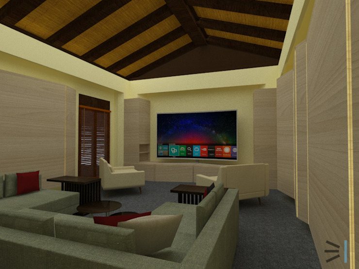 Media room de Tres en uno design