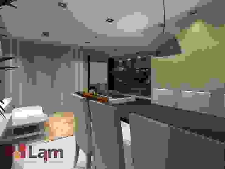 Sala de Jantar - Projeto por LAM Arquitetura   Interiores