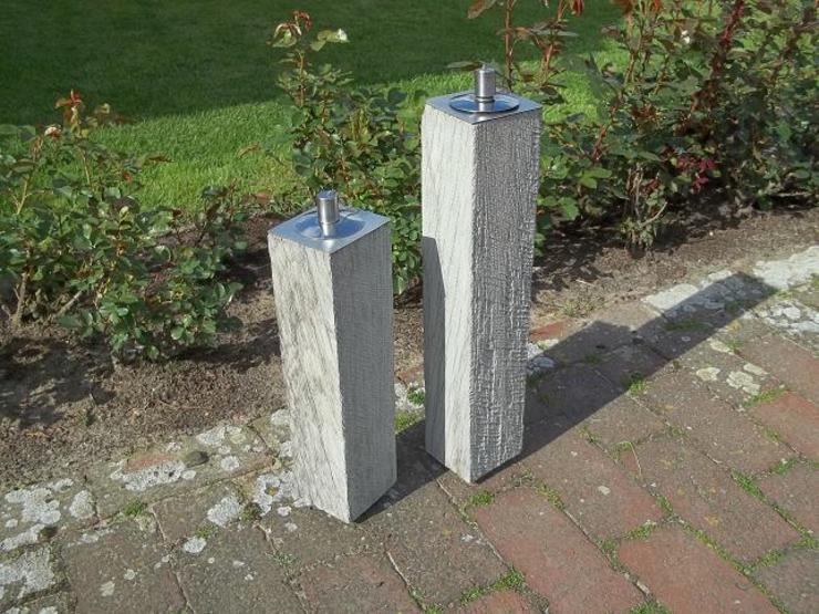Gartenfackel-Set von GREGOR-DESIGN von Gregor-Design Landhaus Holz Holznachbildung