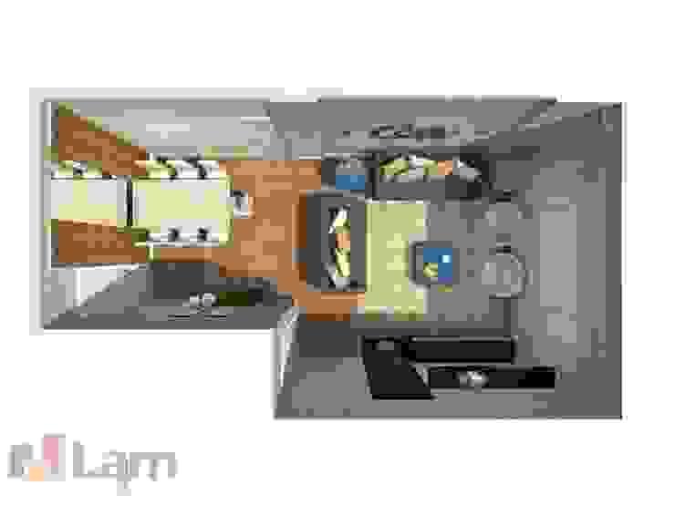Vista Superior da Sala - Projeto por LAM Arquitetura | Interiores