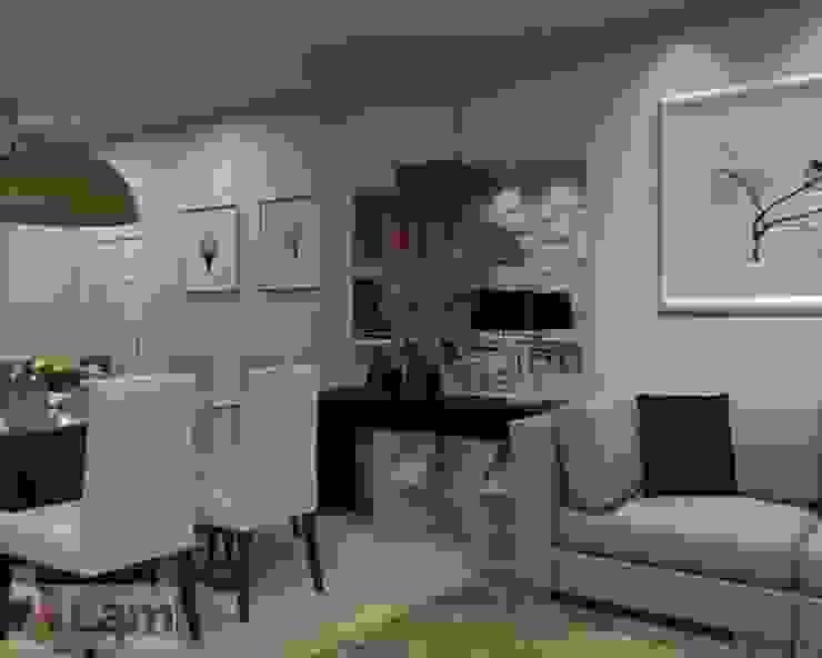 Sala Estar/Jantar - Projeto por LAM Arquitetura | Interiores