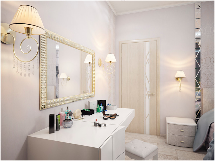 Дизайн-проект трехкомнатной квартиры 94 м2, 2015г Спальня в стиле модерн от Artstyle Модерн
