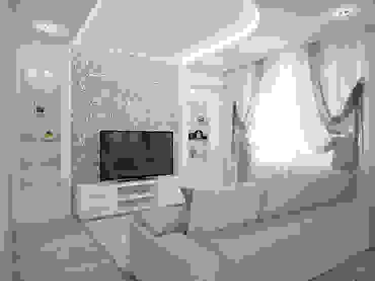Дизайн-проект трехкомнатной квартиры 105 м2_ 2015г Гостиная в классическом стиле от Artstyle Классический