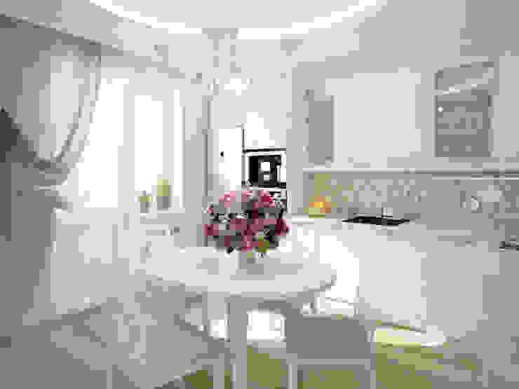 Дизайн-проект трехкомнатной квартиры 105 м2_ 2015г Кухня в классическом стиле от Artstyle Классический