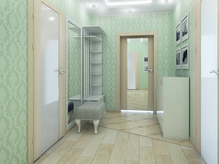 Дизайн-проект трехкомнатной квартиры 105 м2_ 2015г Коридор, прихожая и лестница в классическом стиле от Artstyle Классический