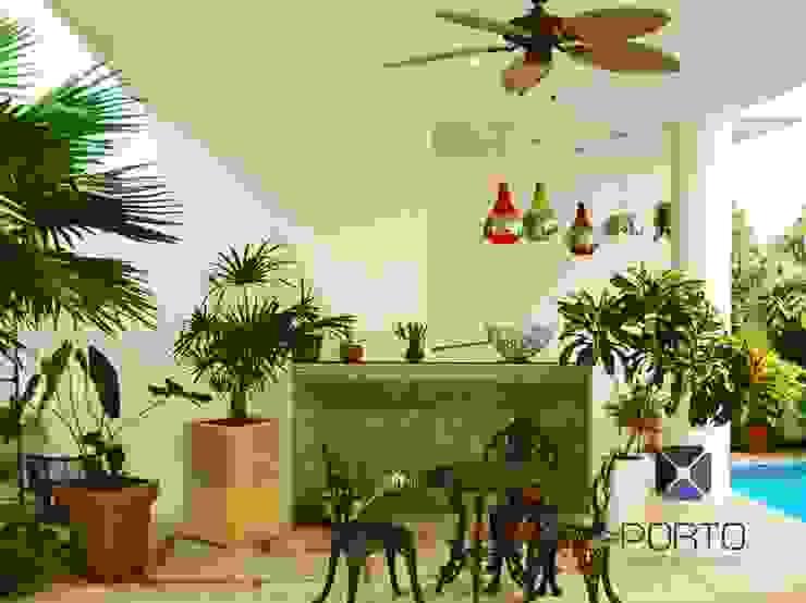 Eklektyczny balkon, taras i weranda od PORTO Arquitectura + Diseño de Interiores Eklektyczny