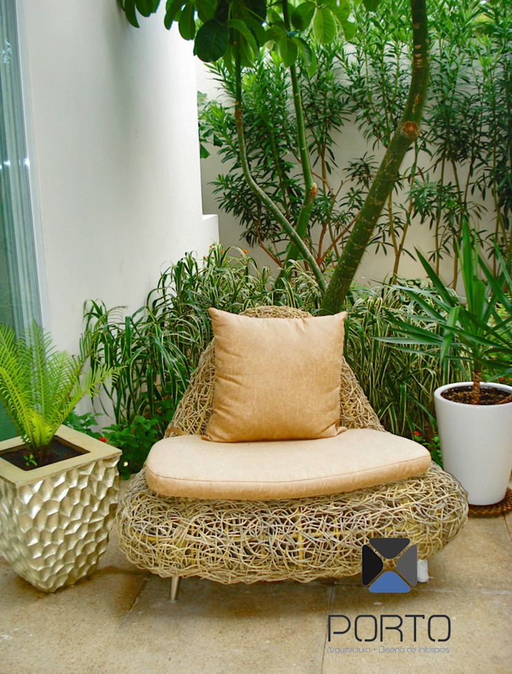 proyecto residencial <q>SR01</q> Jardines eclécticos de PORTO Arquitectura + Diseño de Interiores Ecléctico