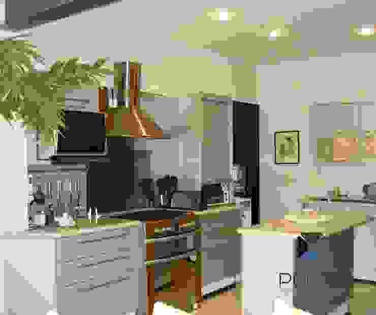 proyecto residencial <q>SR01</q> Cocinas eclécticas de PORTO Arquitectura + Diseño de Interiores Ecléctico