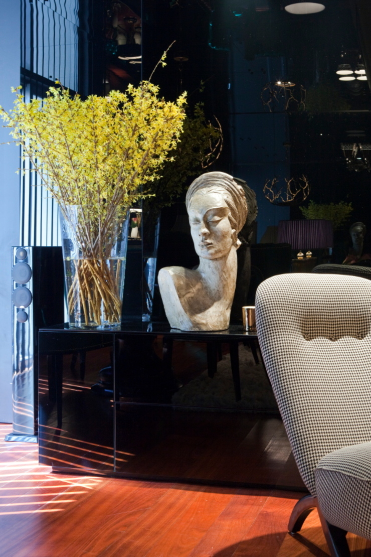 Salon original par Manuel Francisco Jorge interior Design Studio Éclectique