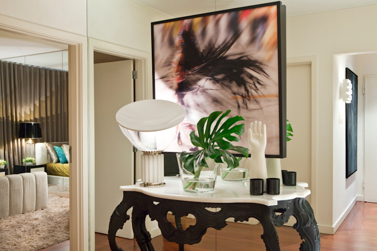 Couloir, entrée, escaliers originaux par Manuel Francisco Jorge interior Design Studio Éclectique