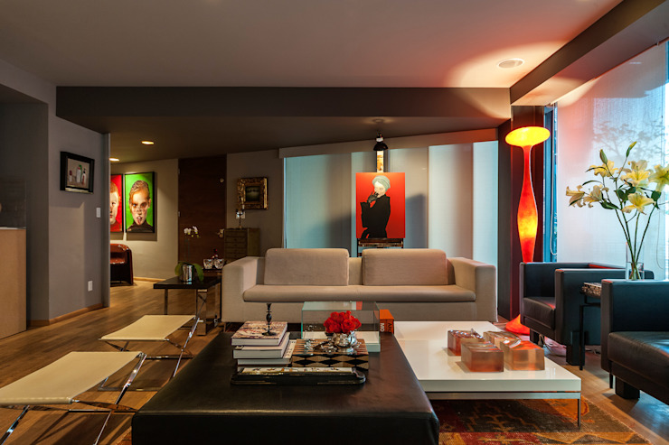 Salas de estar ecléticas por MAAD arquitectura y diseño Eclético