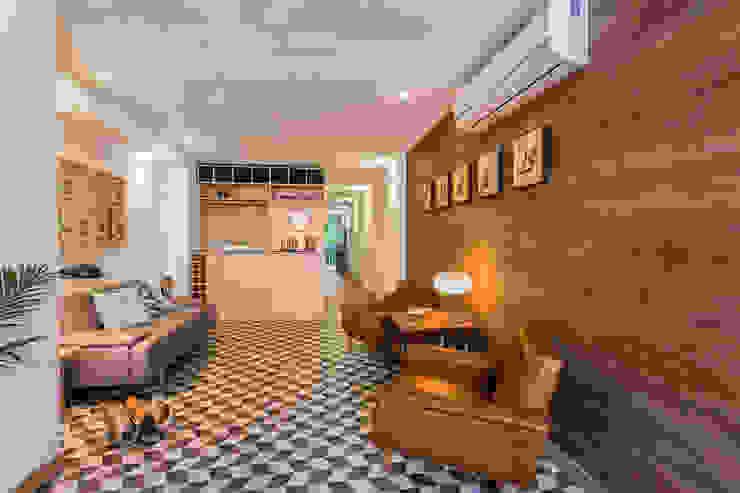 interior área social apto 102 PLANTA BAJA ESTUDIO DE ARQUITECTURA Hoteles