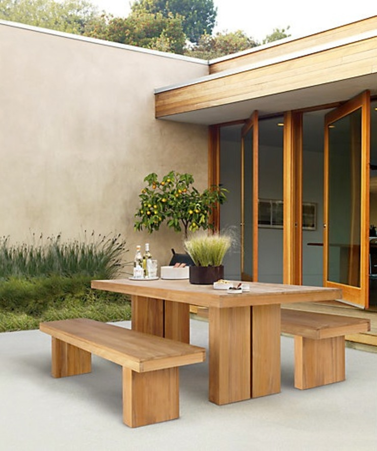 Mesa y Banca KAYU de Design Within Reach Mexico Moderno Madera Acabado en madera
