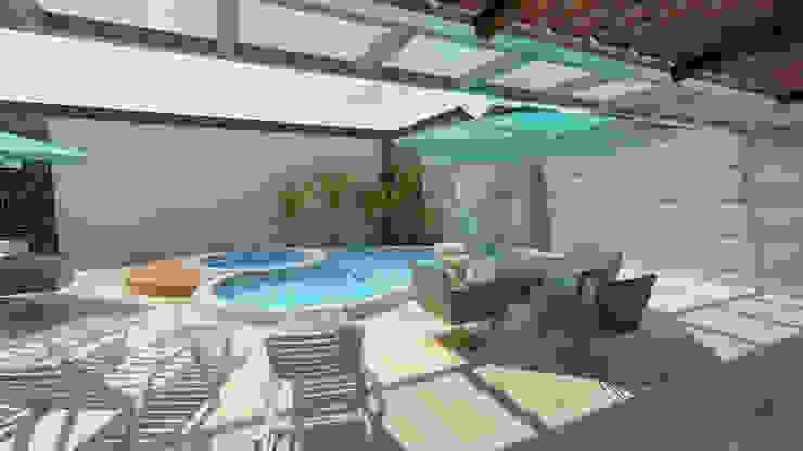 Área de Lazer 4 Varandas, alpendres e terraços modernos por Nankyn Arquitetura & Consultoria Moderno