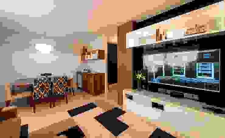 Cristine V. Angelo Boing e Fernanda Carlin da Silva Living roomTV stands & cabinets