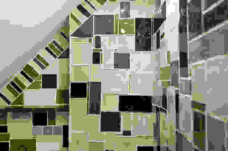 mozaika szklana Nowoczesna łazienka od unikatowe kafelki Nowoczesny Szkło
