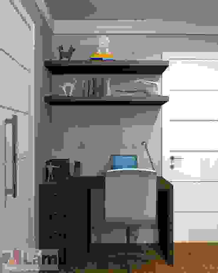 Home Office - Projeto por LAM Arquitetura   Interiores