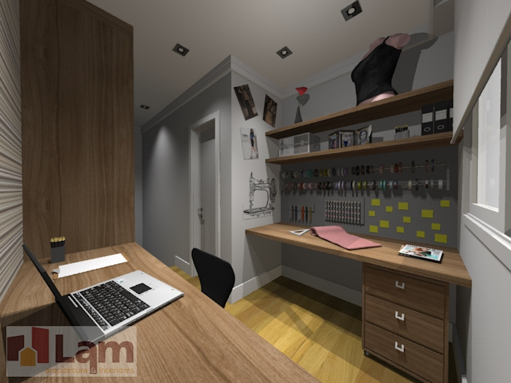 Home Office - Projeto por LAM Arquitetura | Interiores
