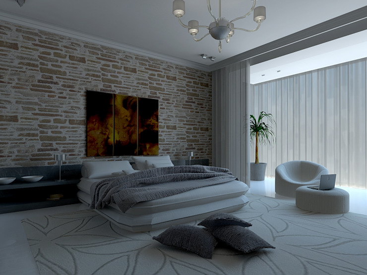 Tatiana Sukhova Industrial style bedroom