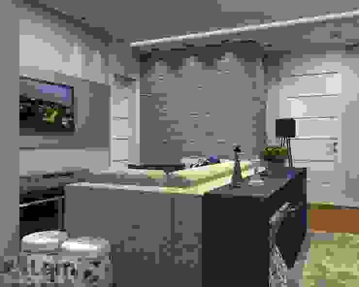 Sala de Estar - Projeto por LAM Arquitetura   Interiores