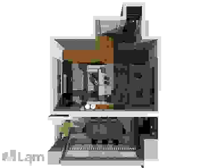 Vista Superior - Projeto por LAM Arquitetura   Interiores
