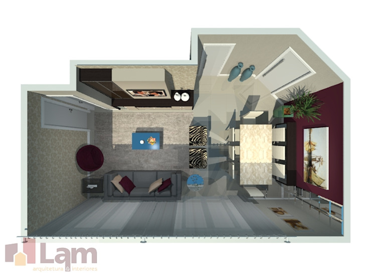 Sala de Estar - Projeto Salas de estar modernas por LAM Arquitetura | Interiores Moderno