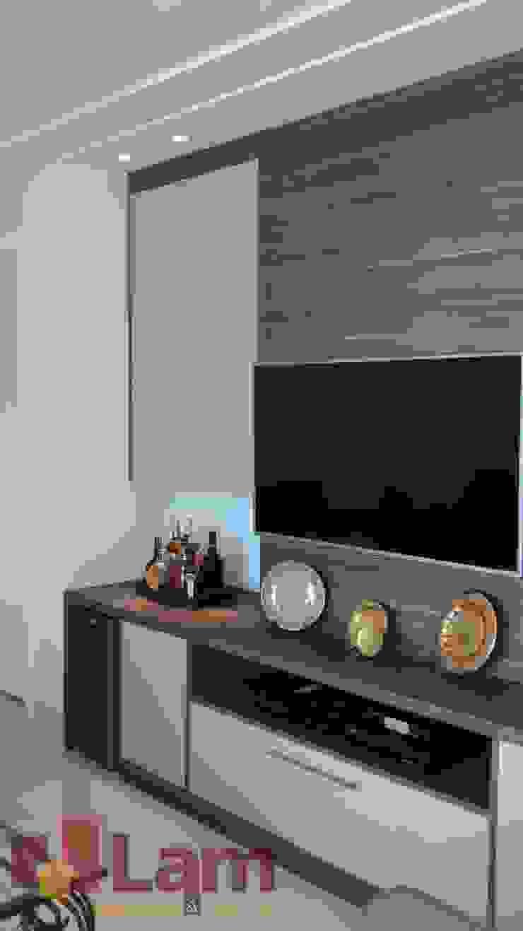 Sala de Estar - Final Salas de estar modernas por LAM Arquitetura | Interiores Moderno