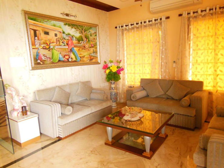 Rita Mody Joshi & Associates Modern living room