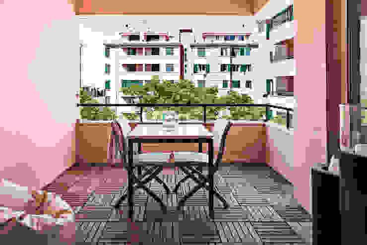 Balcone, Veranda & Terrazza in stile moderno di Ponto Cúbico Moderno