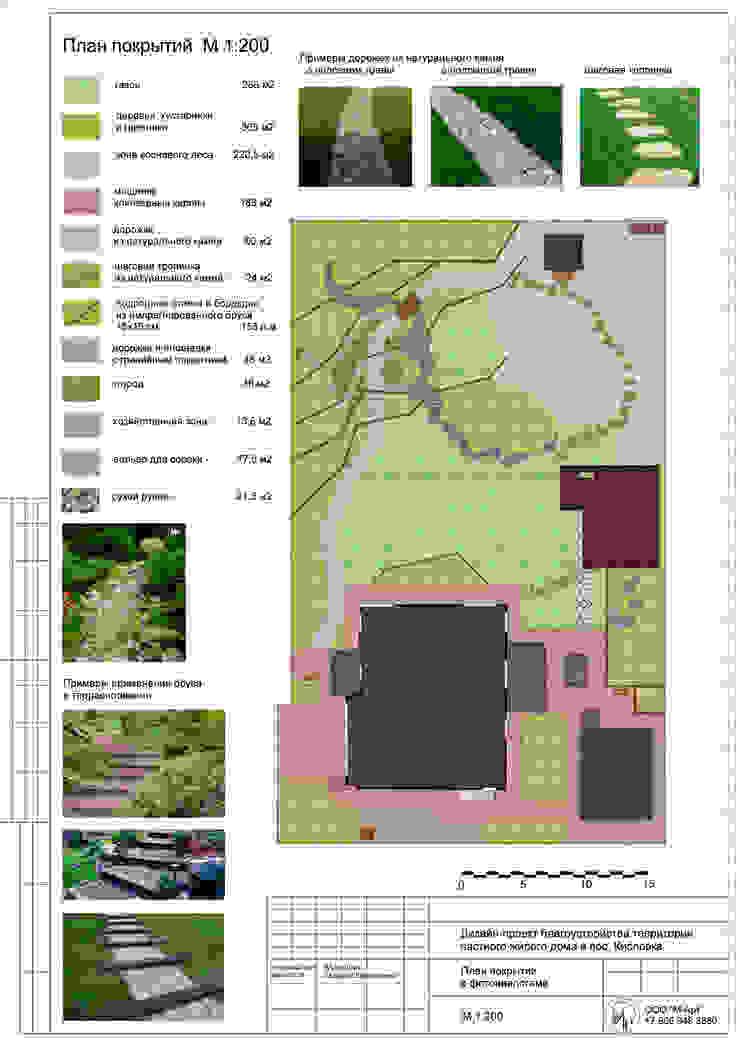План покрытий Сад в скандинавском стиле от Марина Михайлик Скандинавский