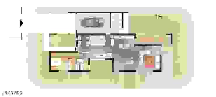 Construction d'une maison individuelle, Pleumeleuc, Ille-et-Vilaine par bAAt architecture Moderne