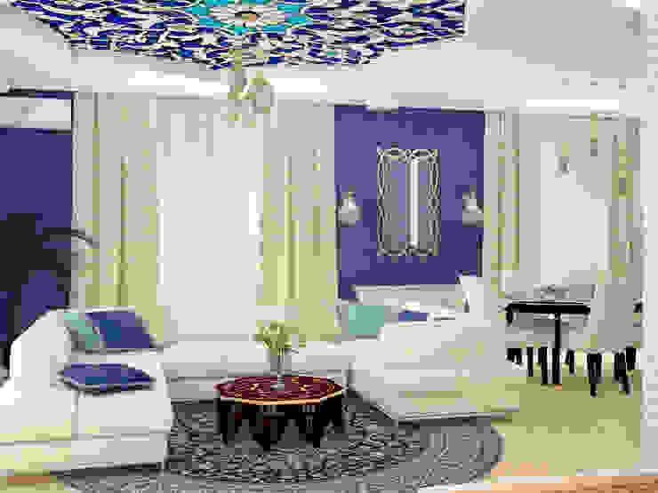 Восточные Сказки Гостиная в азиатском стиле от Tatiana Zaitseva Design Studio Азиатский