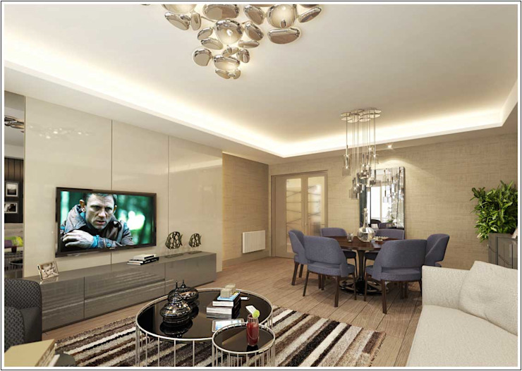 Living room by CCT INVESTMENTS,