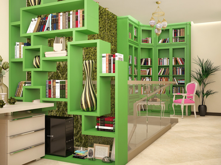 Восточные Сказки Рабочий кабинет в эклектичном стиле от Tatiana Zaitseva Design Studio Эклектичный