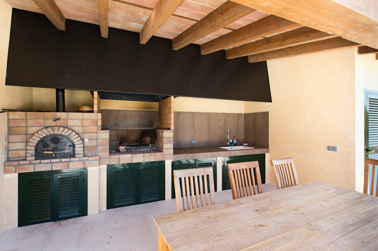 ISLABAU constructora Rustic style balcony, veranda & terrace