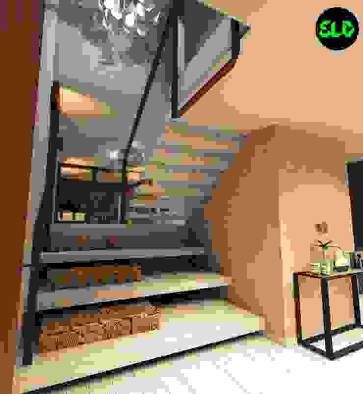 Vivienda Pasillos, vestíbulos y escaleras de estilo clásico de SOLIDO SLD Clásico