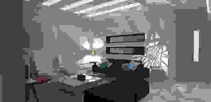 casa am Salas de estar modernas por grupo pr | arquitetura e design Moderno
