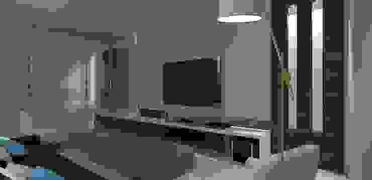 casa am Salas multimídia modernas por grupo pr | arquitetura e design Moderno