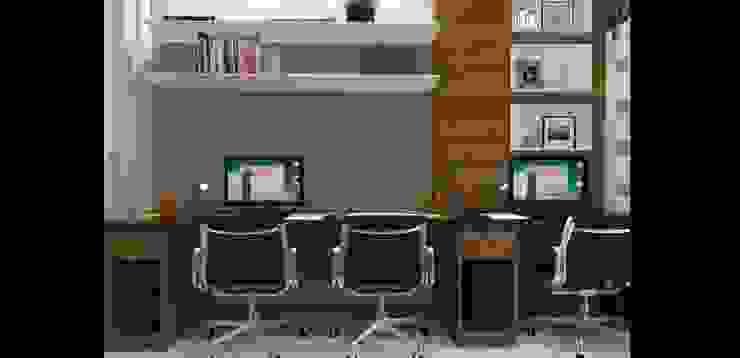 casa am Escritórios modernos por grupo pr | arquitetura e design Moderno