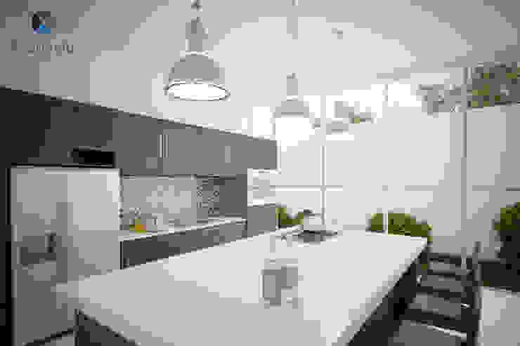 Proyecto Arquitectónico <q> Casa XC03</q> Cocinas modernas de PORTO Arquitectura + Diseño de Interiores Moderno