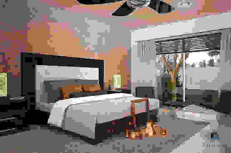 Proyecto Arquitectónico <q> Casa XC03</q> Dormitorios modernos de PORTO Arquitectura + Diseño de Interiores Moderno