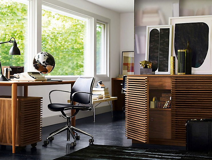 Bar LINE para oficina, diseñada por Nathan Yong para DWR. de Design Within Reach Mexico Moderno Madera Acabado en madera