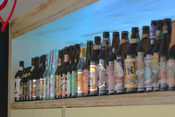 coleção de cervejas - ap bossa por omnibus arquitetura Moderno Vidro
