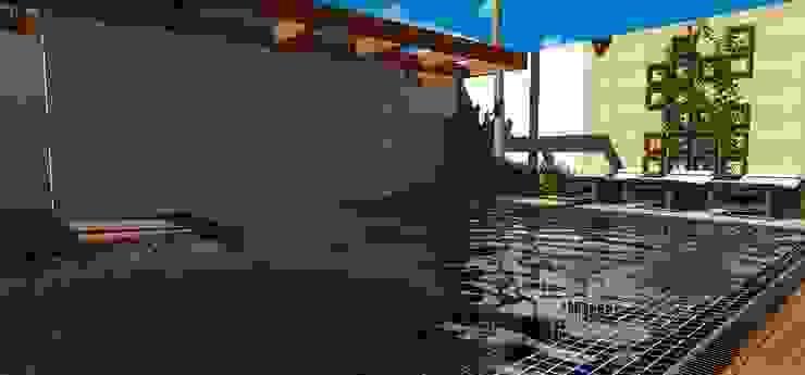 casa bq Piscinas modernas por grupo pr | arquitetura e design Moderno