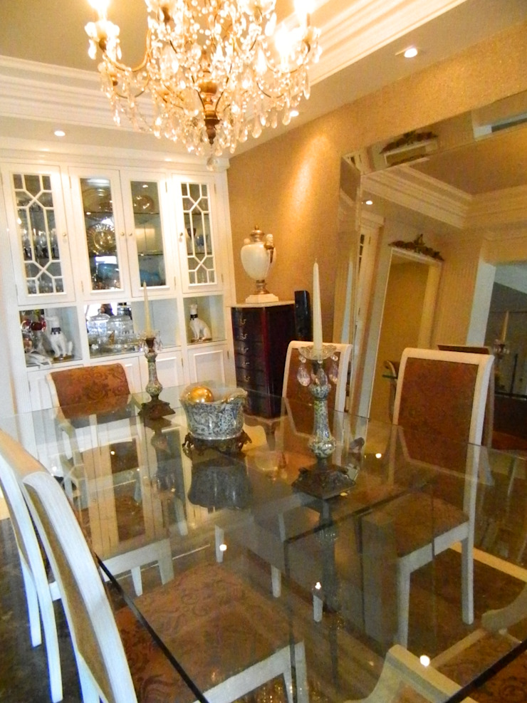 Sala de Jantar Salas de jantar clássicas por mr maria regina de mello vianna arquitetura e interiores Clássico
